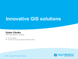 Innovative GIS solutions