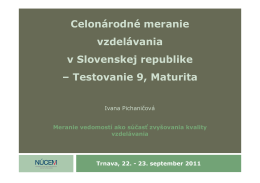 Celonárodné meranie vzdelávania v Slovenskej republike