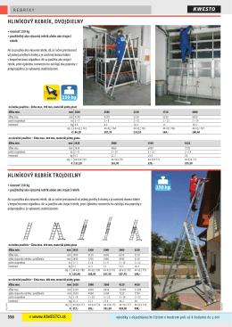 hliníkový rebrík, dvojdielny hliníkový rebrík trojdielny