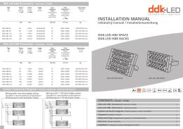 Inštalačný manuál (PDF) - DDK-LED