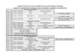 Programa VI Festival de Teatro en Español de las Secciones