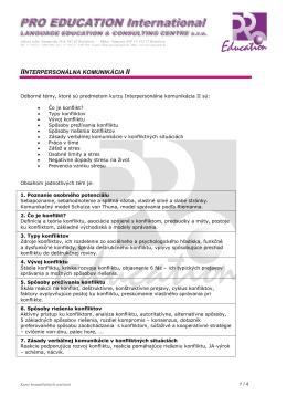 Interpersonálna komunikácia II