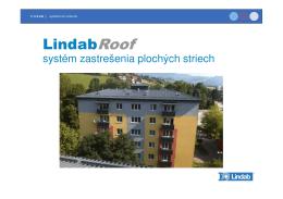 Katalóg plochých striech Lindab Roof