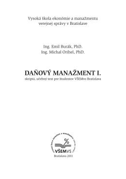Daňový manažment I