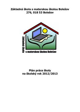 Základná škola s materskou školou Bolešov 276, 018 53 Bolešov