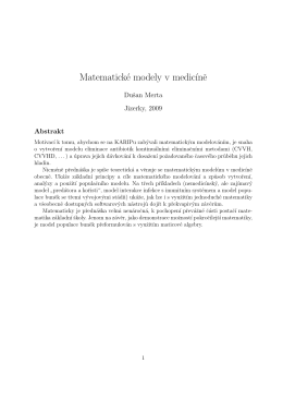 Matematické modely v medic´ıne