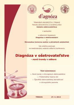 Diagnóza v ošetrovateľstve - Katedra ošetrovateľstva