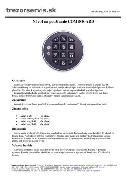 Návod na používanie LaGard 33E Combogard