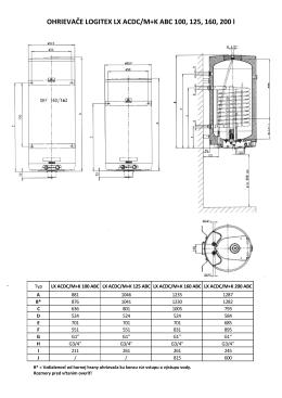 OHRIEVAČE LOGITEX LX ACDC M+K rozmery