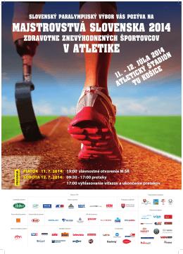 majstrovstvá slovenska 2014 v atletike