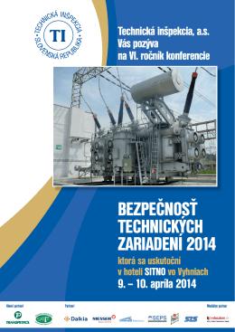 bezpečnosť technických zariadení 2014
