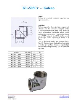 KE-505Cr - Koleno