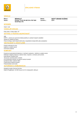 Renault NOVÝ GRAND SCÉNIC Energy 1,6 dCi 96