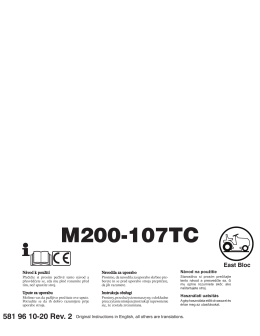 OM, McCulloch, M200-107TC, 96051006800, 2013, Tractor, CZ, HR