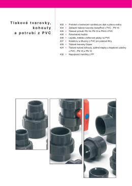 Tlakové tvarovky, kohouty a potrubí z PVC