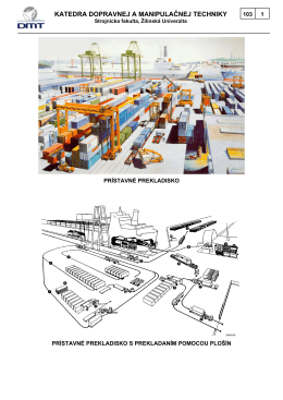 katedra dopravnej a manipulačnej techniky - KDMT