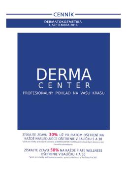 Cenník pre Dermatokozmetiku