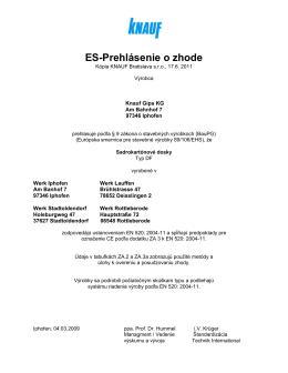ES-Prehlásenie o zhode