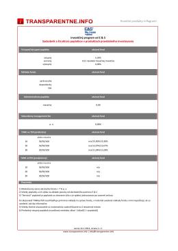 E&S sadzobník - transparentne.info