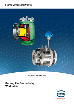 Flame arresters/Vents serving the gas industry worldwide