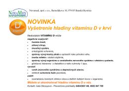 vyšetrenie hladiny vitamínu D