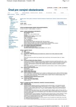 Page 1 z 2 Úrad pre verejné obstarávanie
