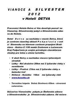 2 0 1 2 v Hoteli DETVA
