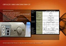 ORVALDI 1000/1400/2000/3000 GE