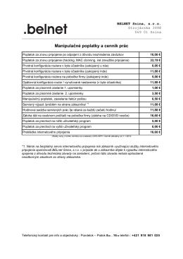 Manipulačné poplatky a cenník prác