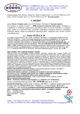 druh : Panel TETRA K 10
