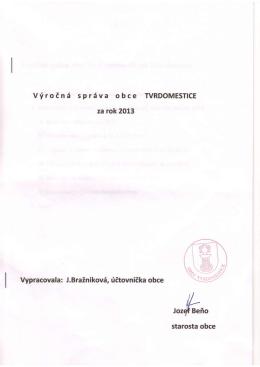 Výročná správa za 2013
