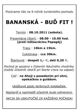 BANANSKÁ - BUĎ FIT !