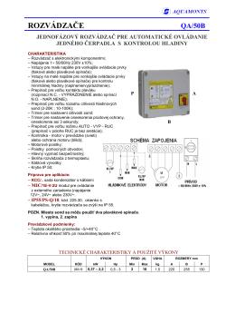 TYP QA/50 B, PRE NAPATIE 1 x 230 V (PDF verzia)