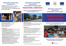Moderná škola - základ života