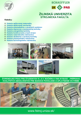 žilinská univerzita strojnícka fakulta