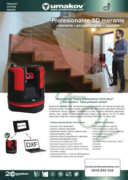 Profesionálne 3D meranie