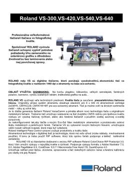 Roland VS-300,VS-420,VS-540,VS-640