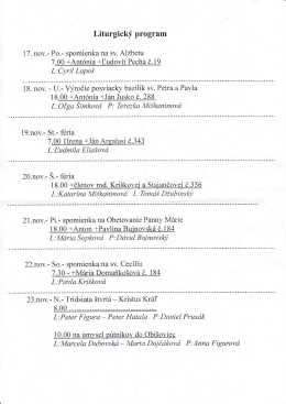 Liturgicky program