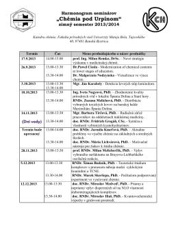 harmonogram na ZS 2013/14