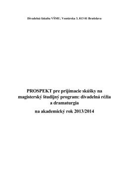 Divadelná fakulta VŠMU, Ventúrska 3, 813 01 Bratislava