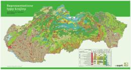 Mapa: Reprezentatívne typy krajiny Slovenska