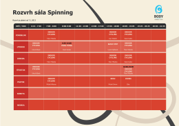 Rozvrh sála Spinning