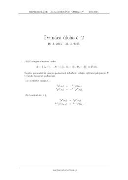 Domáca úloha c. 2