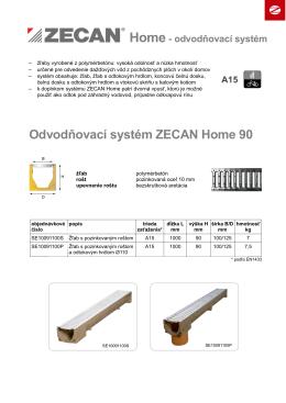 Odvodňovací systém ZECAN Home 90
