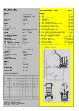 Technické parametre WN 2503 Súbor na stiahnutie