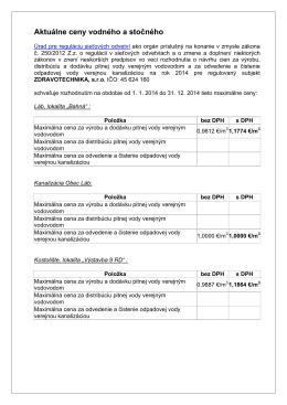 Cenník 2014 - Zdravotechnika sro