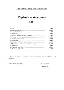 Poplatok za stanovanie 2011