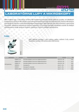 Laboratórne lupy a mikroskopy