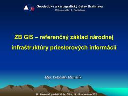 ZB GIS.pdf - Geodetický a kartografický ústav Bratislava