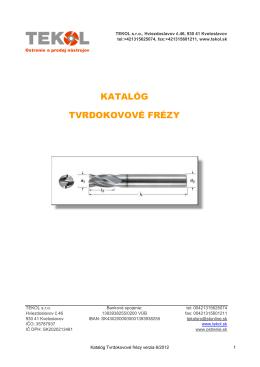 Katalog Tvrdokovove frezy 6/2012 19.9.12